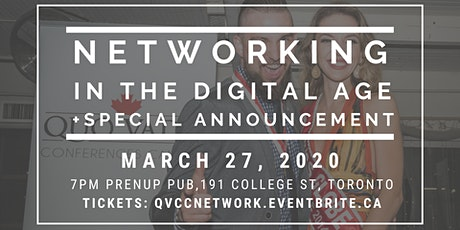 Networking in the Digital Age + Special Announcement tickets