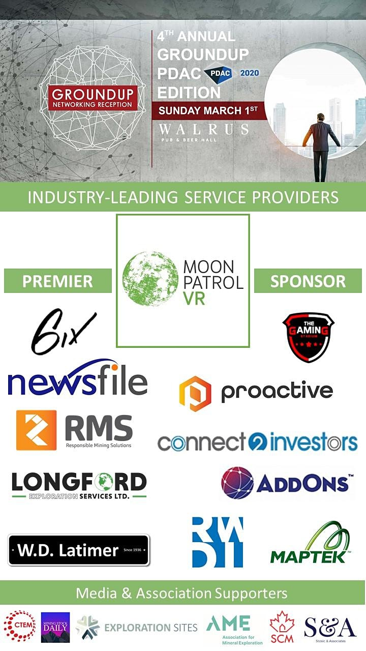 Moonpatrol VR presents: 4th Annual Groundup Networking Reception - PDAC image