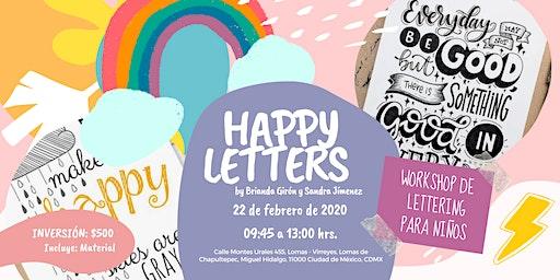 Happy Letters, Workshop de Lettering para Niños