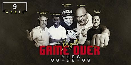 Projeto Game Over - A Festa - 80,90,00 ingressos