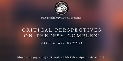 Critical Perspectives on the 'Psy-Complex'