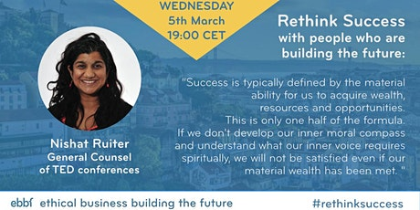 Rethink Success a dialogue with ebbf annual conference speaker Nishat Ruiter tickets