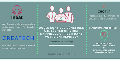 CONFERENCE - INTEGRER UN CHIEF HAPPINESS OFFICER : bénéfices et exemples tickets