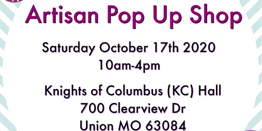 Union  MO Artisan Pop Up Shop by Midwest Handmade