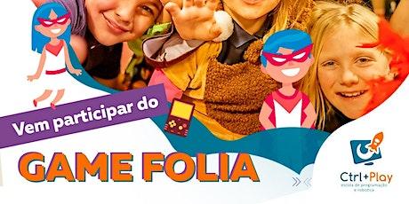 Pré-carnaval - Game Folia 2020. Oficina de Minecraft UND PQ DAS LARANJEIRAS ingressos