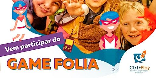 Pré-carnaval - Game Folia 2020. Oficina de Minecraft UND PQ DAS LARANJEIRAS