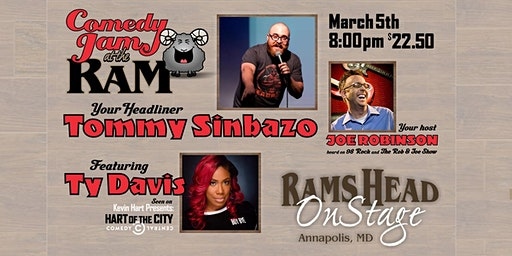 Comedy Jam at The Ram featuring Tommy Sinbazo and Ty Davis