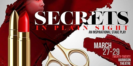 SECRETS IN PLAIN SIGHT - STAGE PLAY tickets