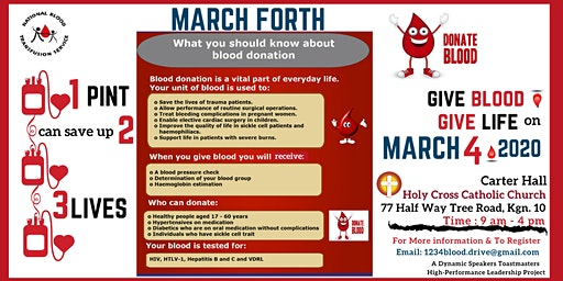 March Forth 1234 Blood Drive