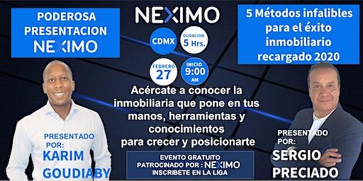 PRESENTACIÓN NEXIMO Y 5 MÉTODOS RECARGADOS CDMX