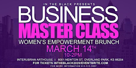 """""""In The Black"""" presents the 2020 Small Business Master Class for women tickets"""