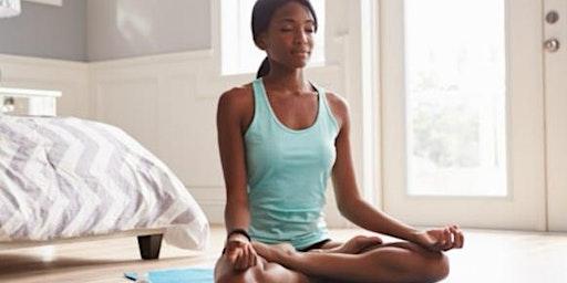 Black Women Meditate Awareness and Breathing meditation