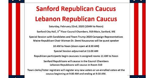 Sanford/Lebanon Republican Caucus