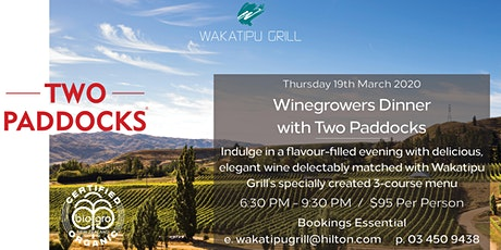 Two Paddocks Winegrowers Dinner tickets