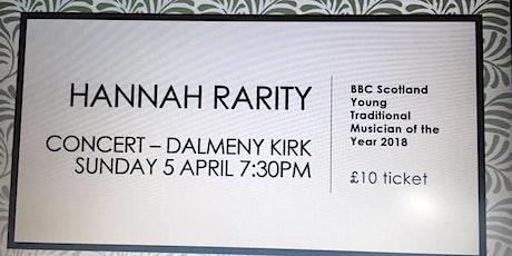 Hannah Rarity Concert Dalmeny Kirk tickets