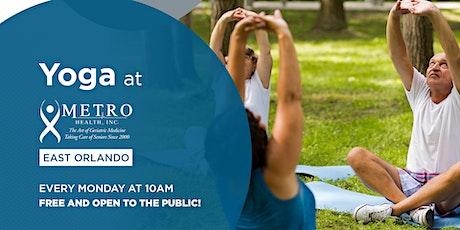 Free Yoga at Metro Health East Orlando tickets