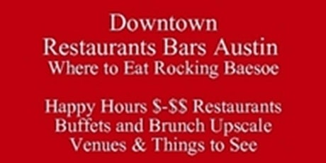 Downtown Restaurants Bars Austin Where to Eat baesoe Almon, & Things to See Visiting Festivals Events Runs or Living in Austin, Register for Austin baesoe  Food Tours Talks Get a Free 3 day iP Foodie Itinerary tickets