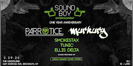 Sound Boy Ent One Year Anniversary tickets