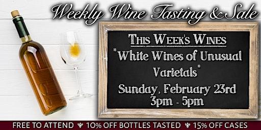 Weekly Wine Tasting & Sale