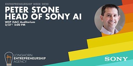 A Talk with Sony's Head of AI - Peter Stone tickets