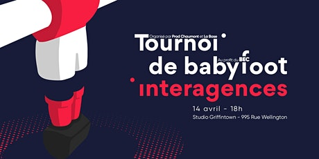 Tournoi de babyfoot interagences 2020 - REPORTÉ tickets