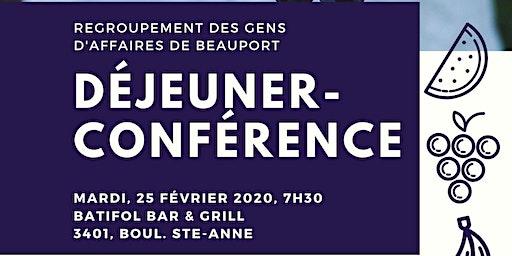 Déjeuner-Conférence du Regroupement des gens d'affaires de Beauport