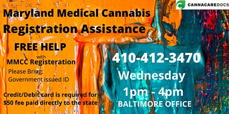 Maryland Medical Cannabis Registration Assistance tickets