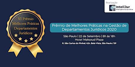VI Prêmio de Melhores Práticas na Gestão de Departamentos Jurídicos ingressos