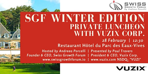 SGF Winter Edition 2020 Private Luncheon with Vuzix Corp. in Geneva