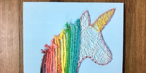 Mommy /Daddy & Me Unicorn String Art