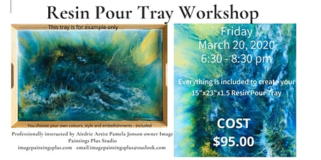 Resin Pour Serving Tray Workshop tickets