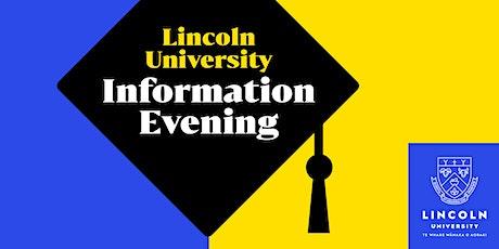 Lincoln University Hamilton Information Evening tickets