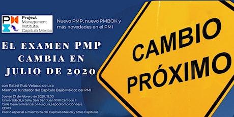 Nuevo PMP®, nuevo PMBOK® y más novedades en el PMI tickets