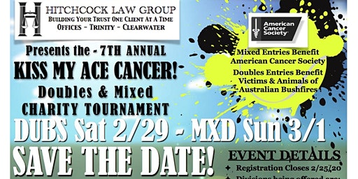 Kiss My Ace! Doubles & Mixed Charity Tournament