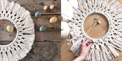 Macrame Easter Wreath @Alresford Linen