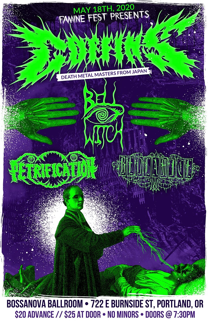 CANCELLED- COFFINS (JAPAN) |  Bellwitch , Petrification IN PORTLAND image