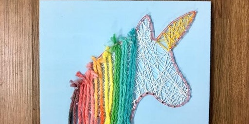 Daddy/Mommy Unicorn String Art