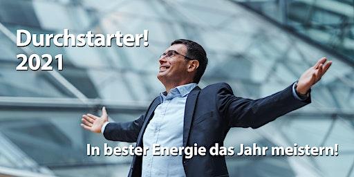 Durchstarter-Workshop 2021. In bester Energie das neue Jahr meistern!