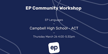 EP Community Workshop - ACT tickets
