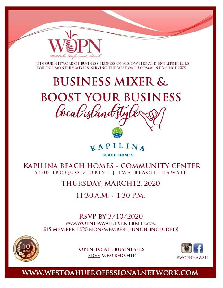 Business Mixer by West Oahu Professional Network (WOPN) image