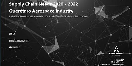 SUPPLY CHAIN NEEDS 2020 - 2022 QUERÉTARO AEROSPACE INDUSTRY boletos