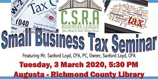 CSRA Business League Small Business Tax Seminar