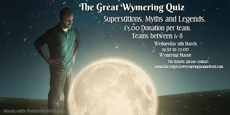 The Great Wymering Quiz - Supersititions, Myths and Legends tickets