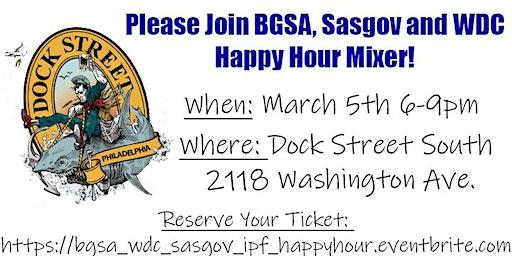 BGSA WDC SASGov Happy Hour Mixer at Dock Street South