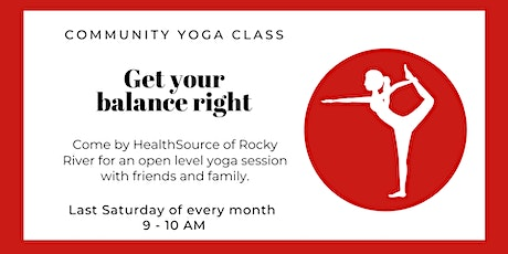 Monthly Community Yoga with HealthSource tickets