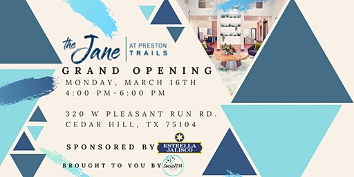 GRAND OPENING of The Jane at Preston Trails