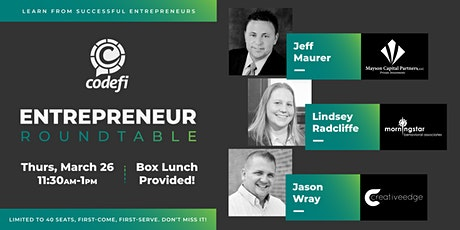 Codefi's Entrepreneur Roundtable Session 2 tickets