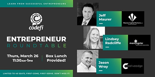 Codefi's Entrepreneur Roundtable Session 2