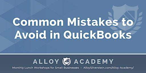 Common Mistakes in QuickBooks - Alloy Academy Hammonton