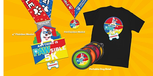 2020 Anything is PAW-sible Virtual 5k Run Walk - League City
